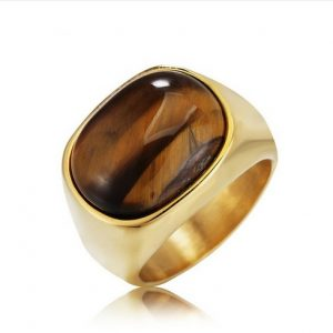 Men's 316L Tigers Eye Ring - $24.99